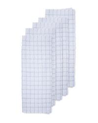 Grey Cotton Terry Tea Towel 5 Pack