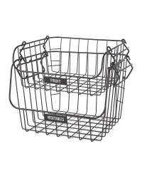Black Fruit & Veg Wire Basket 2 Pack