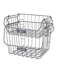 Grey Fruit & Veg Wire Basket 2 Pack