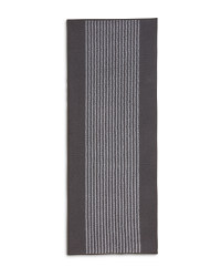 Charcoal Stripes Washable Runner
