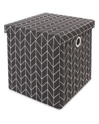 Kirkton House Black Metallic Cube