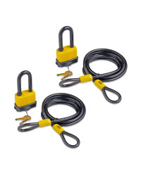 Padlock With Cable 2 Pack Bundle