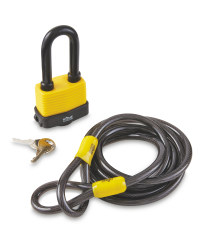 Home Protector Padlock And Cable
