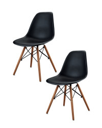 Pair of Eiffel Chairs - Black