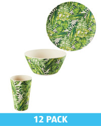 Palm Bamboo Dining Set