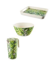 Palm Bamboo Serveware Set