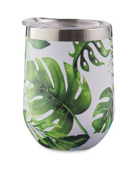 Palm Leaf Stainless Steel Tumbler