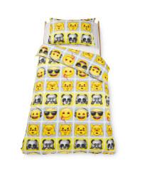 Emoji® Panda Single Duvet Set