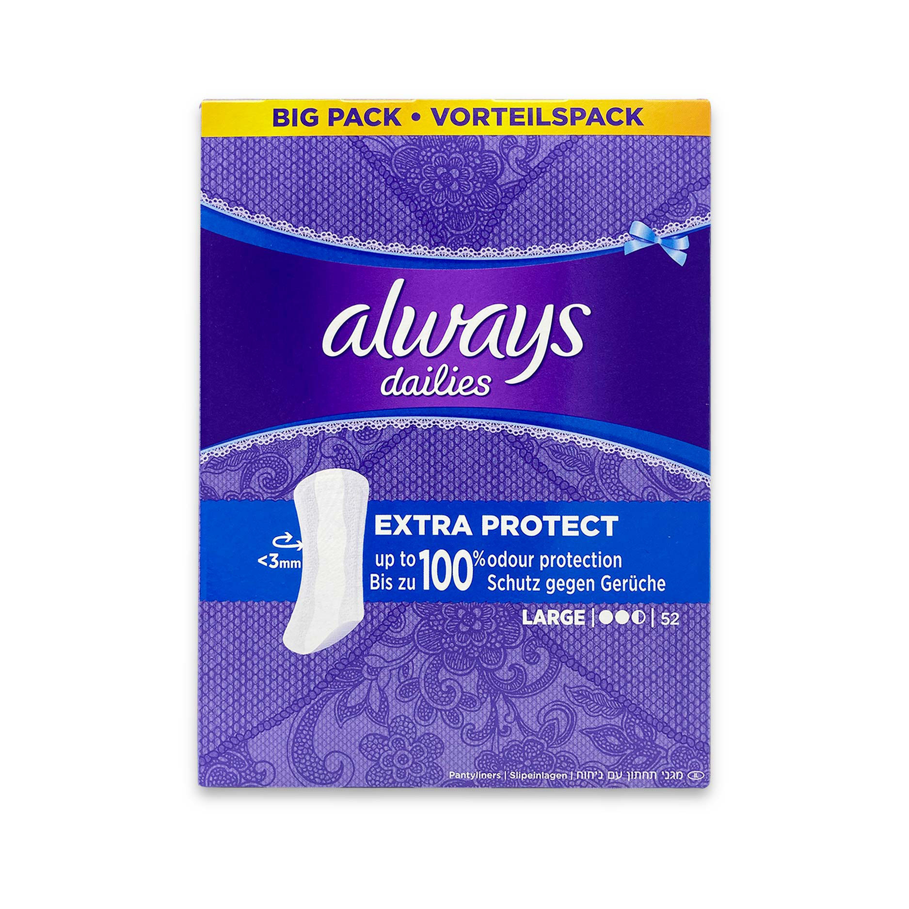 Extra Protect Panty Liners Large