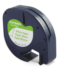 White Paper Dymo Label Tapes