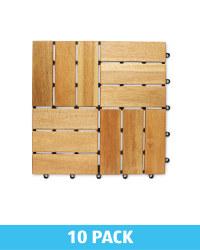 Parquet Design Wooden Decking Tiles