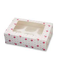 Pastel 6 Cupcake Holder Box - 2 Pack