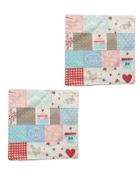 Patchwork Cushion Covers 2-Pack