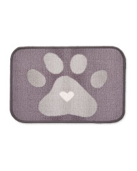 Paw Print Heart Washable Feeding Mat