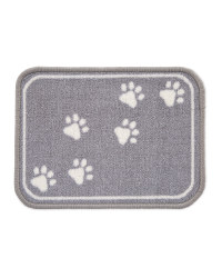 Paw Print Washable Pet Feeding Mat