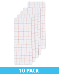 Peach Terry Tea Towels 10 Pack