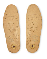 Pelotte Gel Heel Pad Leather Insoles