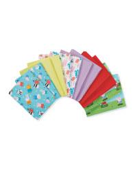 Peppa Fabric Fat Quarters 12 Pack