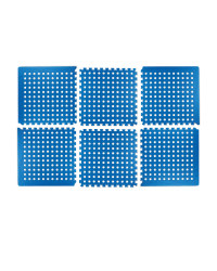 Perforated Multi-Purpose Floor Mats - Blue