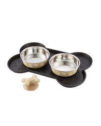 Beige Paws Pet Bowl Bundle Medium