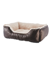 Pet Collection Faux Leather Pet Bed