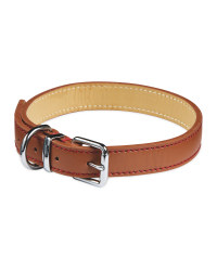 Pet Collection Leather Collar - Tan
