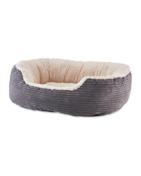 Pet Collection Oval Grey Pet Bed