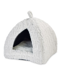 Pet Collection Plush Igloo Cat Bed