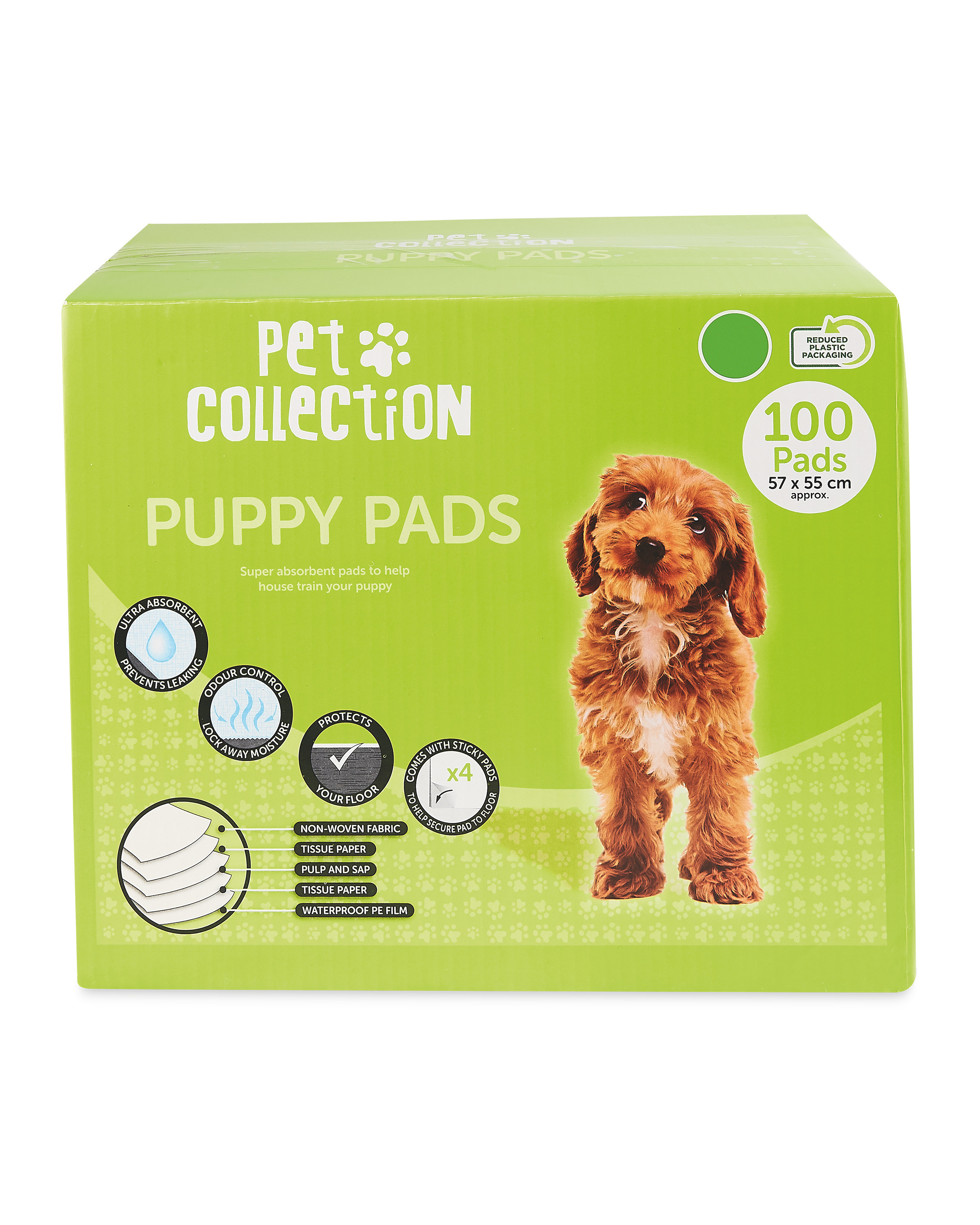 Pet Collection Puppy Pads 100 Pack