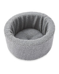 Pet Collection Round Cat Bed - Grey