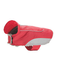 Shower Resistant Dog Coat - Red