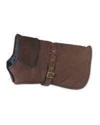 Pet Collection Waxed Cotton Dog Coat - Brown