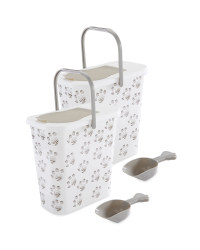 Pet Food Container 2 Pack