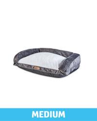 Pet Collection Medium Pet Soft Bed - Dark Grey
