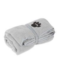 Pet Collection Light Grey Pet Towel