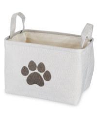 Light Grey Paws Pet Toy Storage Tub