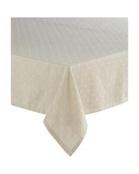 Beige Stars Picnic Tablecloth