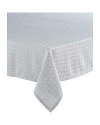 Grey Spots Picnic Tablecloth