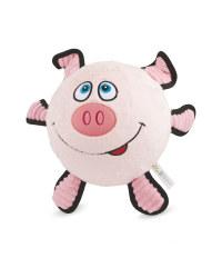 Pig Plush Football Dog Toy