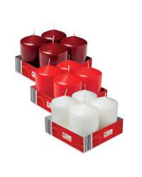 Pillar Candles 4 Pack