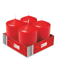 Pillar Candles 4 Pack - Red