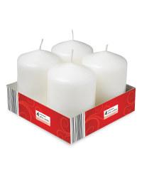 Pillar Candles 4 Pack - White
