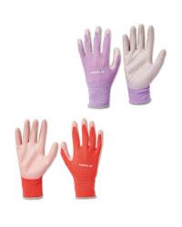 Pink & Lilac Gardening Gloves