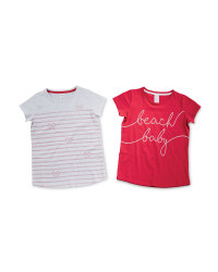 Pink and White Children's T-Shirts