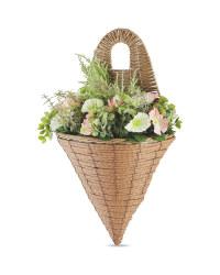 Pink & White Cone Flower Basket