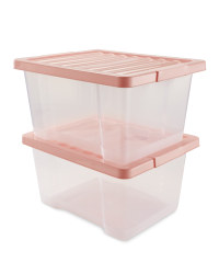 Pink 20L Storage Box 2 Pack