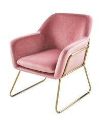 Metal Frame Pink Arm Chair