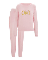 Avenue Ladies' Pink Loungewear Set