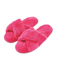 Pink Avenue Cosy Plush Slippers