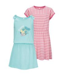 Pink/Blue Girls' Dress 2 Pack